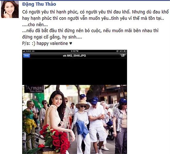 Hoa hậu Thu Thảo: Nếu muốn bắt đầu thì đừng nên bỏ cuộc, nếu yêu thì đừng ngại cố gắng, hy sinh.