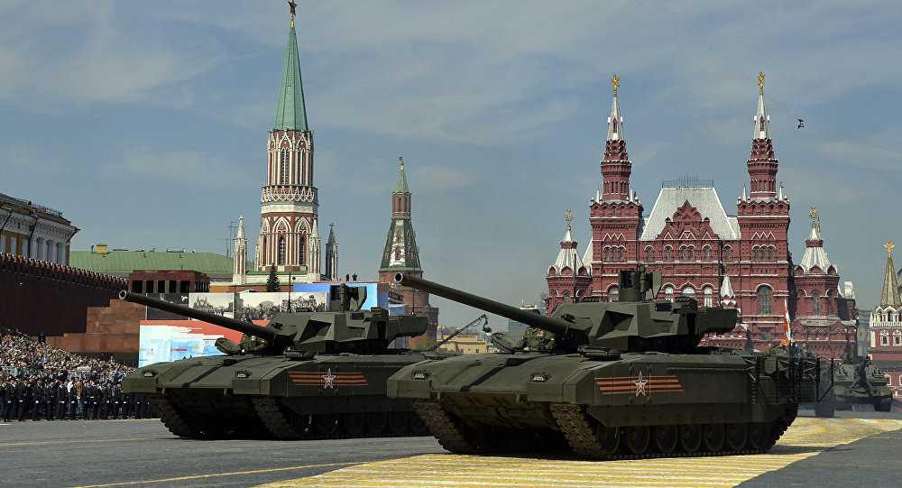 Xe tăng Armata trên Quảng trường Đỏ