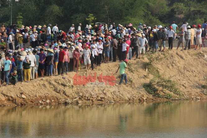 Sông Trà Khúc nơi sảy ra sự việc. (Ảnh: Tuổi Trẻ)