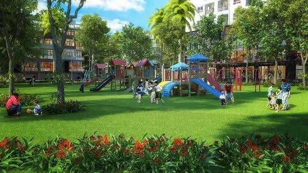 Tại dự án Mon City, có tới hơn 50% diện tích được ưu ái dành cho phát triển không gian cảnh quan và hệ thống tiện ích.