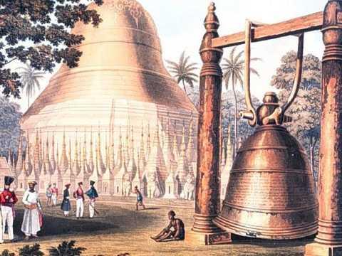 Hình ảnh Đại Chung của Dhammazedi được mô tả trong một bức tranh cổ cho thấy kích thước vĩ đại của nó