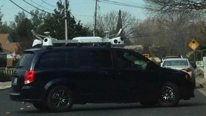 Hình ảnh được cho là xe thử nghiệm công nghệ tự lái của Apple.