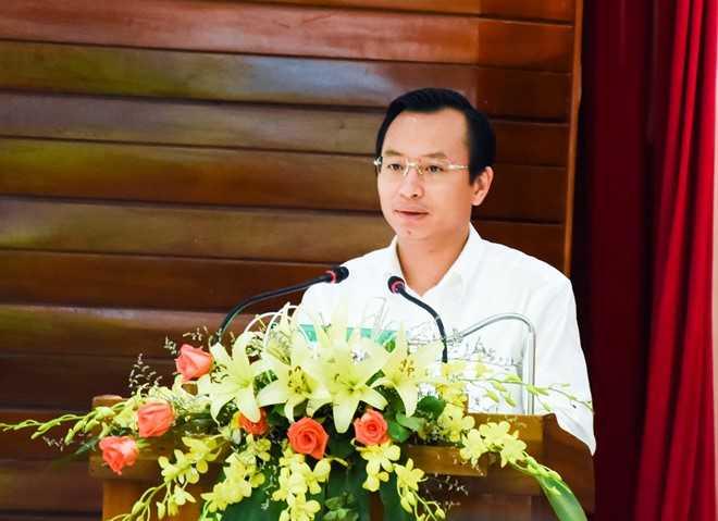 Bí thư Nguyễn Xuân Anh cho biết ở Đà Nẵng tuyệt đối không có vùng cấm trong công tác đấu tranh, phòng chống tham nhũng. Ảnh: Đoàn Nguyên.