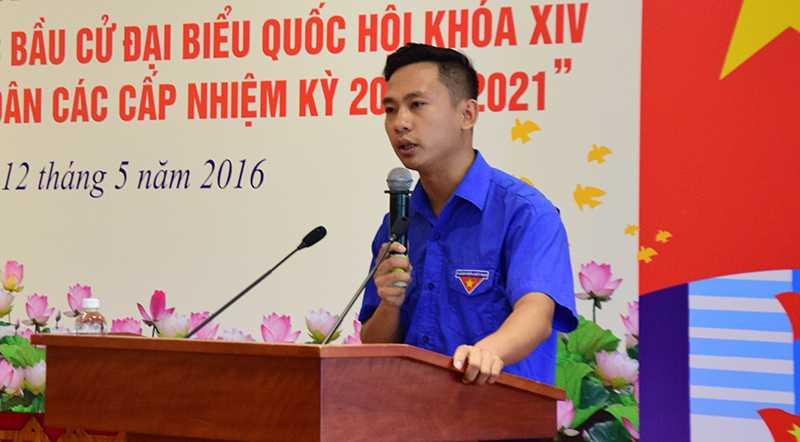 Nguyễn Ngọc Đức (Bí thư Đoàn phường Tân Lập, TP Thái Nguyên) giành giải nhất cuộc thi