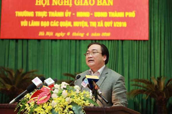 Bí thư Thành ủy HN Hoàng Trung Hải