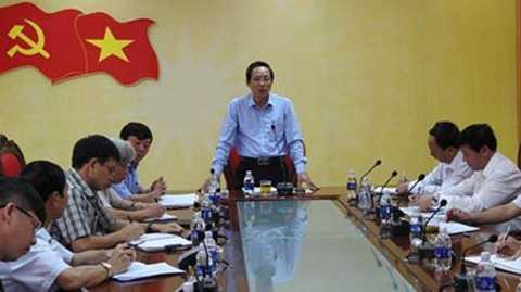 Bí thư Tỉnh ủy Quảng Bình, ông Hoàng Đăng Quang. Ảnh: Sài Gòn Giải Phóng.