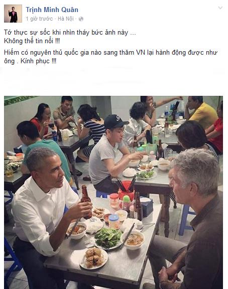 Ca sỹ Minh Quân chia sẻ trên trang cá nhân