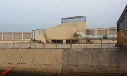 Hệ thống đường ống nước thải ở công ty Formosa