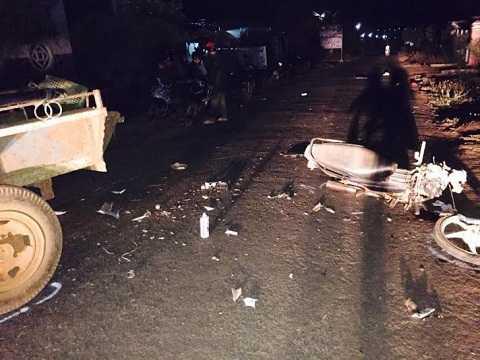 Hiện trường vụ tai nạn (Ảnh :CTV)
