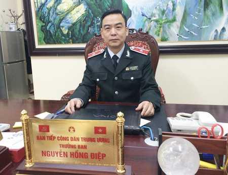 Ông Nguyễn Hồng Điệp- Trưởng Ban Tiếp công dân Trung ương (Thanh tra Chính phủ) người bị nhóm đối tượng quá khích hành hung hôm 24/5. (Ảnh Dân Trí)