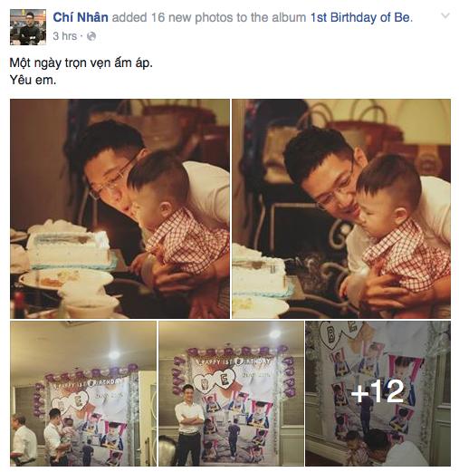 Chí Nhân tổ chức tiệc sinh nhật linh đình cho con trai.