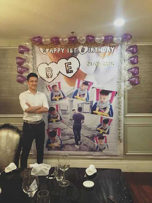 Chí Nhân đã mất nhiều công sức tổ chức bữa tiệc sinh nhật linh đình cho con trai, tuy nhiên anh tỏ rất vui vì bé Be dường như rất phấn khích với những gì bố chuẩn bị.