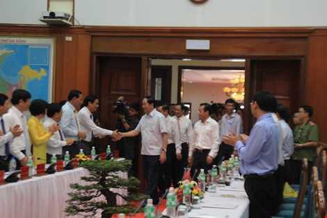 Chủ tịch nước Trần Đại Quang thăm Đà Nẵng. Ảnh: LÊ PHI