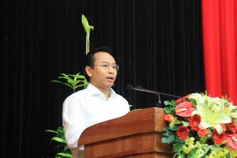 Ông Nguyễn Xuân Anh phát biểu. Ảnh: LÊ PHI