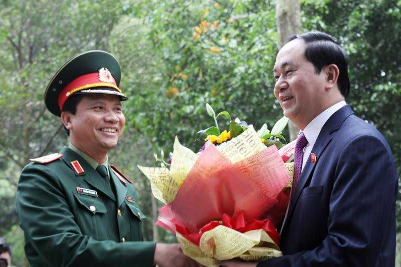 Chủ tịch nước Trần Đại Quang thăm khu di tích K9