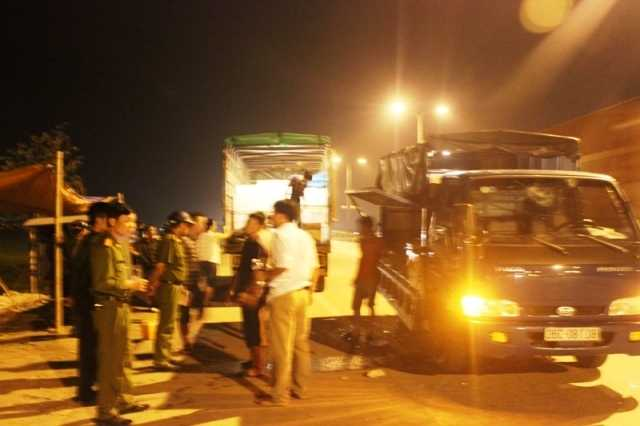 Lực lượng công an phường Quảng Hưng (TP Thanh Hóa) đã nhanh chóng có mặt tại hiện trường