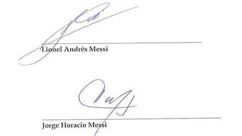 Chữ ký của bố con Messi trong vụ mua bán công ty Mega Star Enterprises