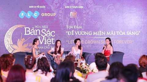 """Các hoa hậu Việt Nam tham dự tọa đàm """"Để vương miện mãi tỏa sáng"""""""