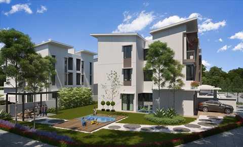 Giếng trời thiết kế ưu việt tại giữa ngôi nhà, giúp lưu thông không khí và ánh sáng cho toan ngôi nhà