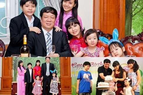 Vợ chồng Trang Nhung và 4 con.