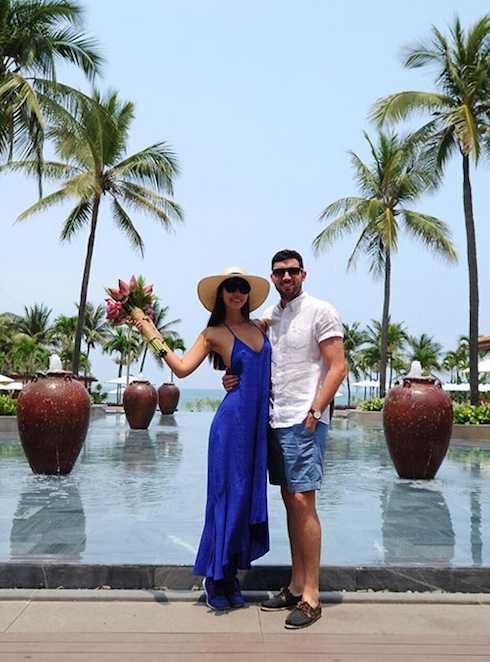Hà Anh và chồng sắp cưới Olly Dowden