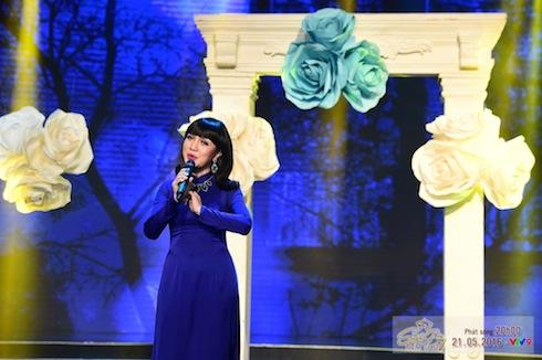 """Hà Vân trong """"Hãy nghe tôi hát""""."""