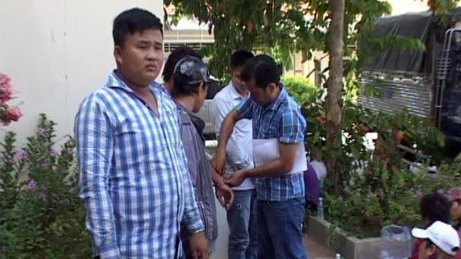 Các đối tượng bị bắt tại cơ quan công an - Ảnh: Phúc Thịnh