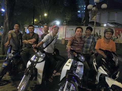 Đội hiệp sĩ TP HCM trong một lần tuần tra chung. Ảnh: NVS