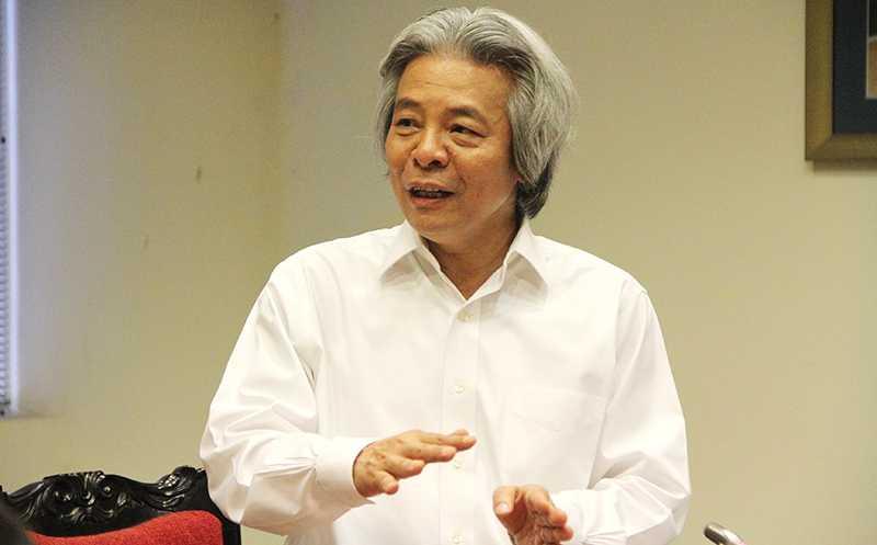 GS Võ Khánh Vinh –  Giám đốc Học viện Khoa học Xã hội (Ảnh: Phạm Thịnh)