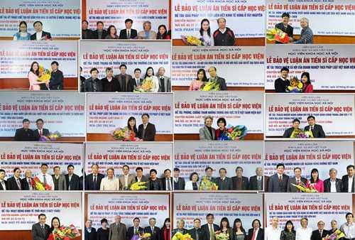 Một số nghiên cứu sinh bảo vệ thành công luận án tiến sĩ tại Học viện Khoa học Xã hội Việt Nam