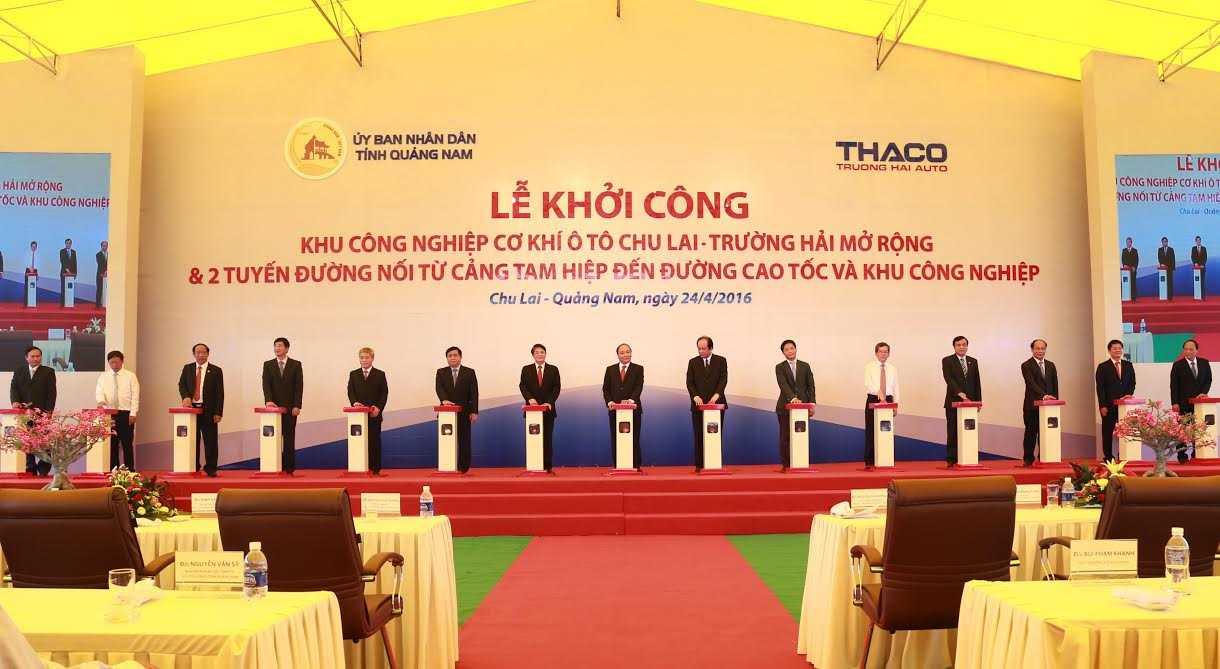 Lễ khởi công Khu công nghiệp cơ khí ô tô Chu Lai – Trường Hải mở rộng