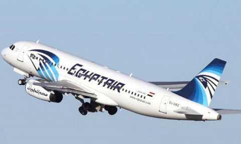 Một chiếc máy bay của hãng EgyptAir. Ảnh CCTV.