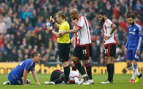 Terry đã bị đuổi khỏi sân khi trận đấu chuẩn bị khép lại