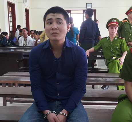 Bị cáo Giang tại phiên tòa