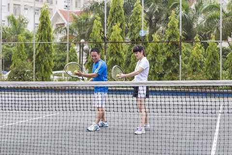 Hệ thống các sân tennis được bố trí trong Khu đô thị Đặng Xá