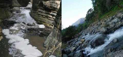 Lưu lượng nước ở sông Tliapa và sông Tlacuapa hiện đã giảm xuống hơn một nửa.