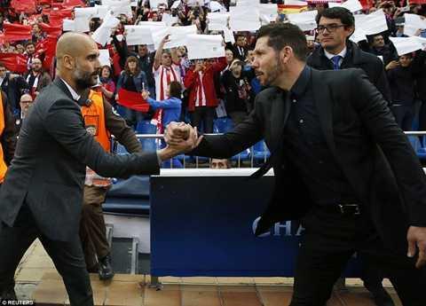 Guardiola vừa so tài với Simeone đêm qua