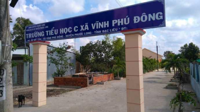 Trường tiểu học C xã Vĩnh Phú Đông, Bạc Liêu, nơi hiệu trưởng bị tố sàm sỡ nữ sinh tại trường