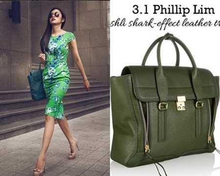 Nữ diễn viên Bỗng dưng muốn khóc diện chiếc túi Phillip Lim có giá khoảng 20 triệu đồng.