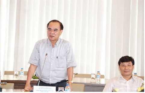 Ông Cao Duy Hải - Tổng giám đốc - Thành viên Hội đồng thành viên phát biểu tại buổi lễ.