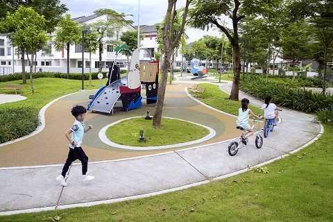Tiểu khu Botanic – Gamuda Gardens có không gian xanh và tiện ích chiếm hơn 60% tổng diện tích xây dựng.