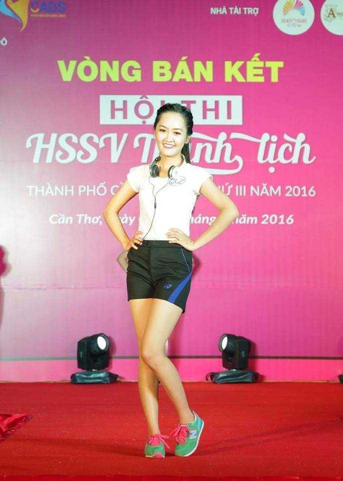 Mai Thị Hồng Hân đầy khỏe khoắn trong trang phục thể thao