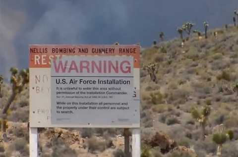Chưa một ai có thể lý giải được những hiện tượng kỳ lạ xảy ra ở khu căn cứ quân sự Mỹ. Ảnh The Sun