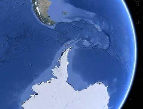 Vật thể được phát hiện ngoài khơi bờ biển Nam Cực