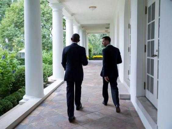 Brian Mosteller trò chuyện với Tổng thống Obama
