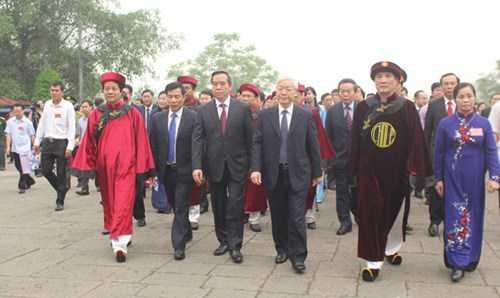 Lễ hội Đền Hùng năm nay, ông Bùi Minh Châu - Chủ tịch UBND tỉnh Phú Thọ giữ vai trò Chủ lễ.