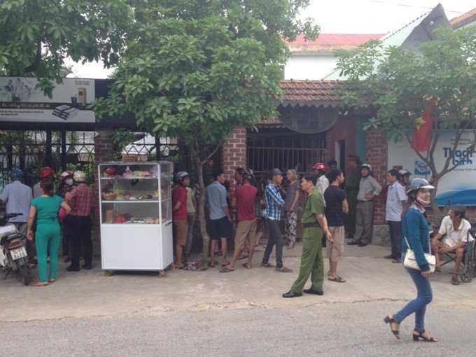 Hiện trường nơi nghi phạm Sơn vụ tẩm xăng đốt vợ cũ xảy ra ngày 28.4 tại TP.Đông Hà, Quảng Trị