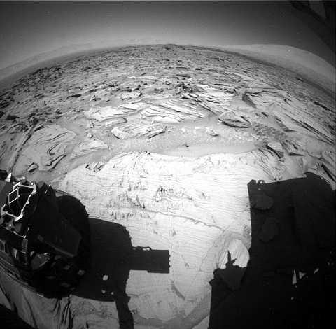 Bức ảnh của NASA như một bằng chứng về người ngoài hành tinh đã đặt chân lên sao Hỏa. Ảnh Dailymail