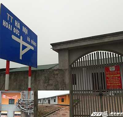 Công trình lấn chiếm đất công được xây kiên cố, có cổng lớn và rào bằng dậu ngăn cách hẳn với bên ngoài. Ảnh H.H