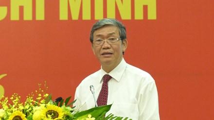 Ông Đinh Thế Huynh, Ủy viên Bộ Chính trị, Thường trực Ban Bí thư phát biểu tại hội nghị.